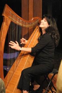 Verlene with harp